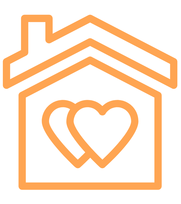 orange home icon