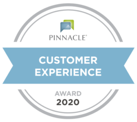 Pinnacle award for best customer experience of 2020