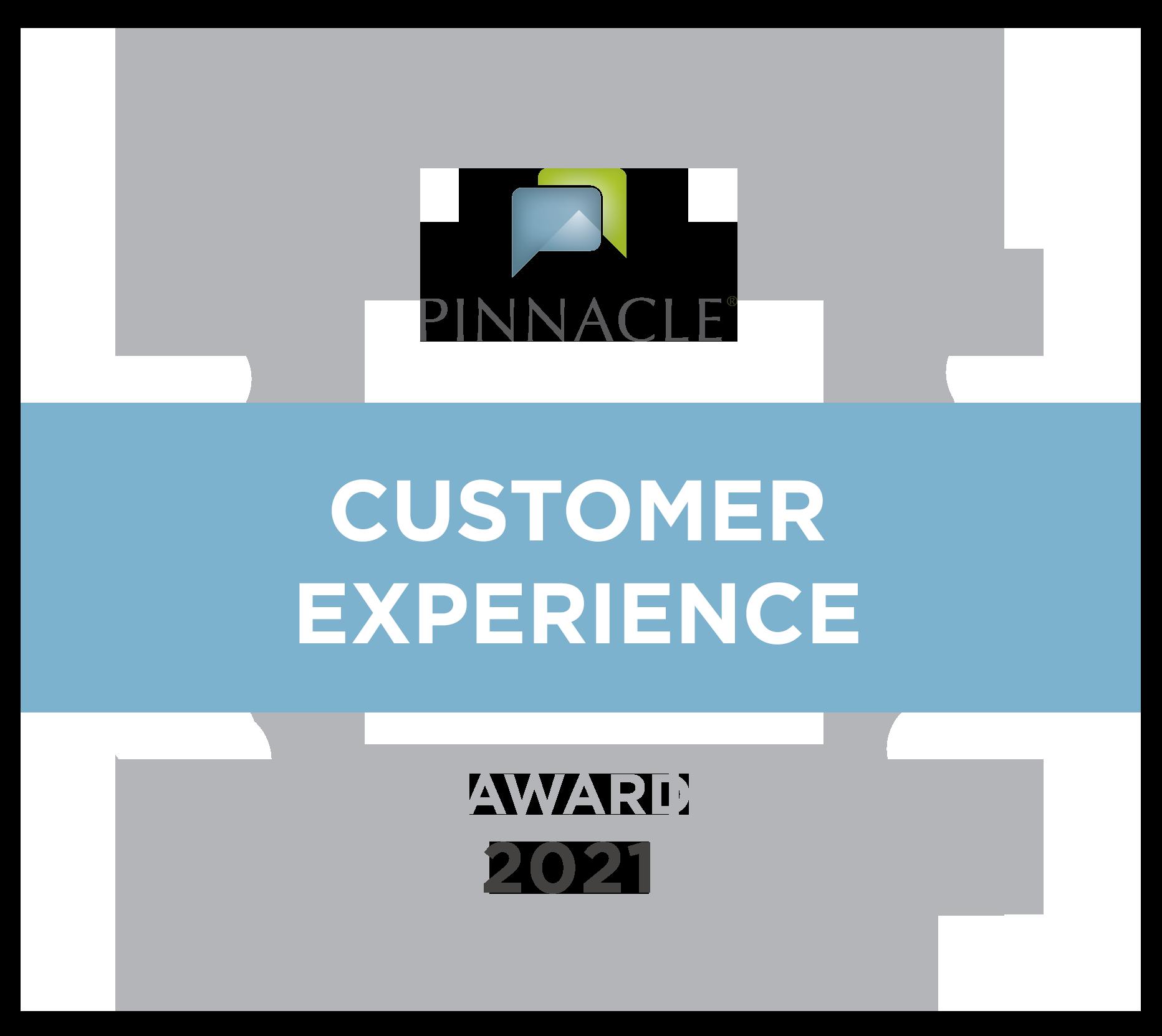 Pinnacle Customer Experience Award 2021