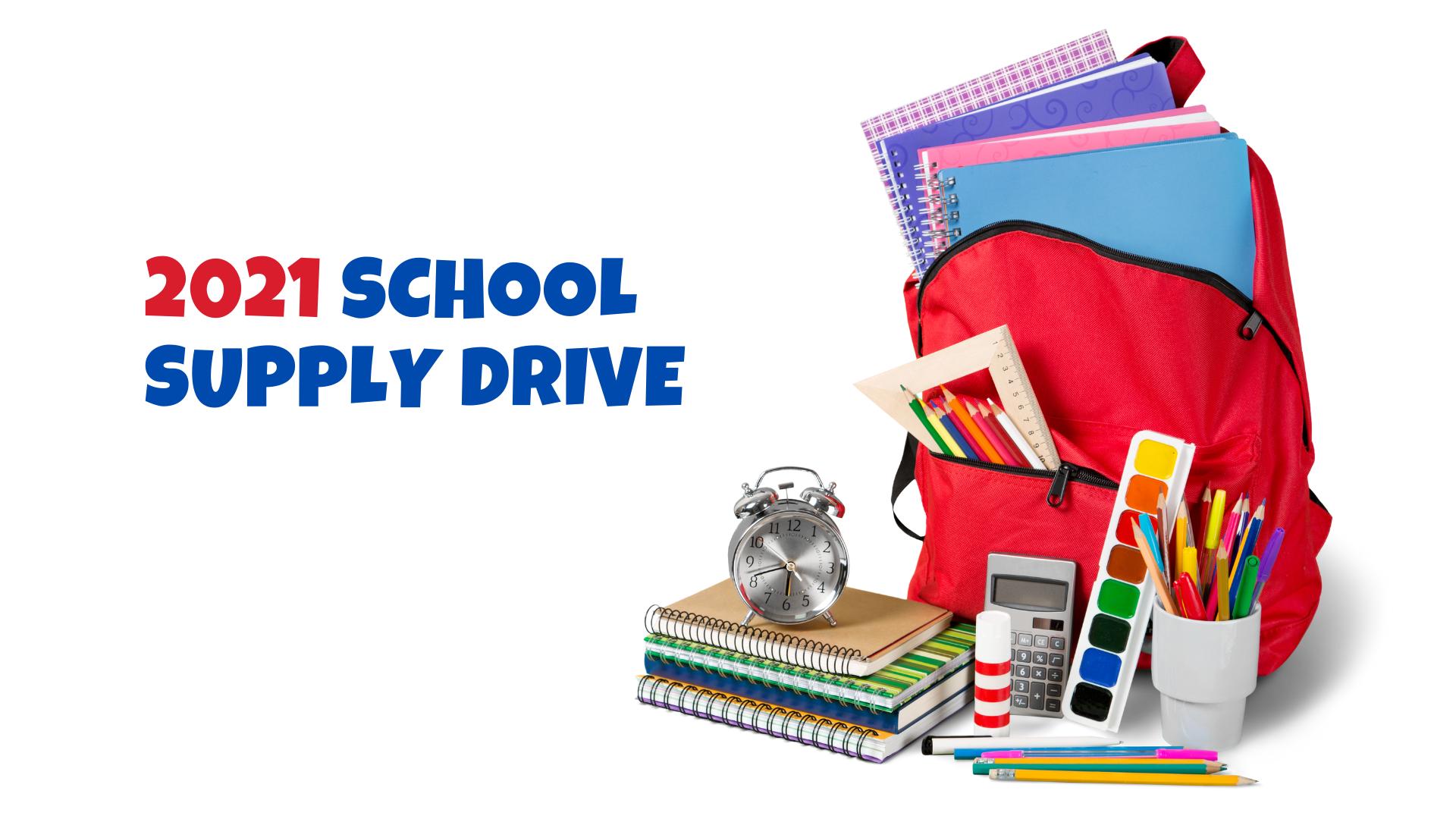 2021 School Supply Drive Announcement.